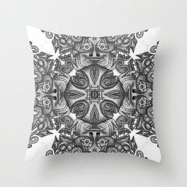 black, white and gray  Throw Pillow