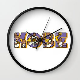 bryant lakers Wall Clock