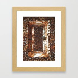Rusted Door Framed Art Print