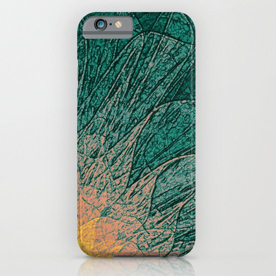 Abstract Flower - green iPhone & iPod Case