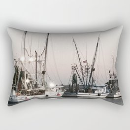 Fishing Boats on the Water at Sunset Rectangular Pillow