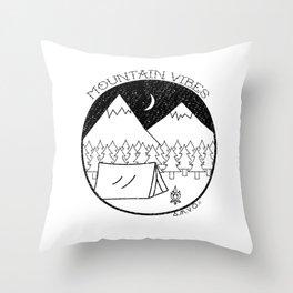 Mountain Vibes Throw Pillow