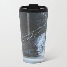 Emerging waterfall after the flood Metal Travel Mug