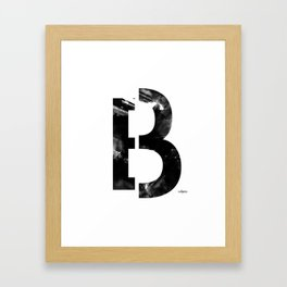 Black and White Abstract Geometric B13 Framed Art Print