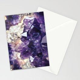 Crystal gemstone - ultra violet Stationery Cards