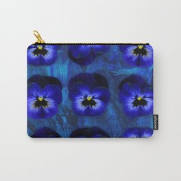 Deep Blue Velvet Carry-All Pouch