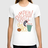 spice T-shirts featuring Pumpkin Spice by Chelsea Herrick