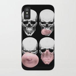 Skulls chewing bubblegum iPhone Case