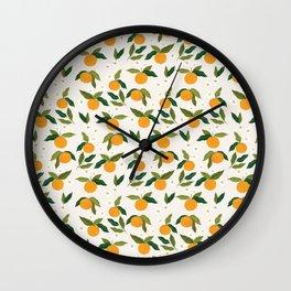 Gouache Oranges Wall Clock
