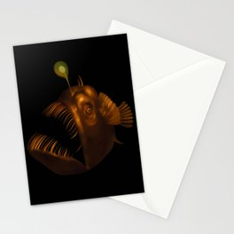 Deep Sea Anglerfish Watercolor Stationery Cards