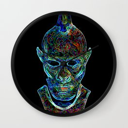 acid monster Wall Clock