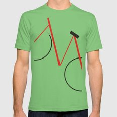 Bicycle Grass Mens Fitted Tee LARGE