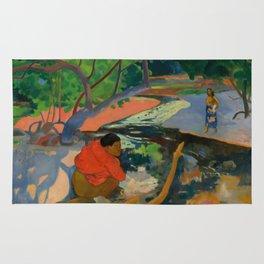 """Paul Gauguin """"Te Poipoi (Le matin - The morning)"""" Rug"""