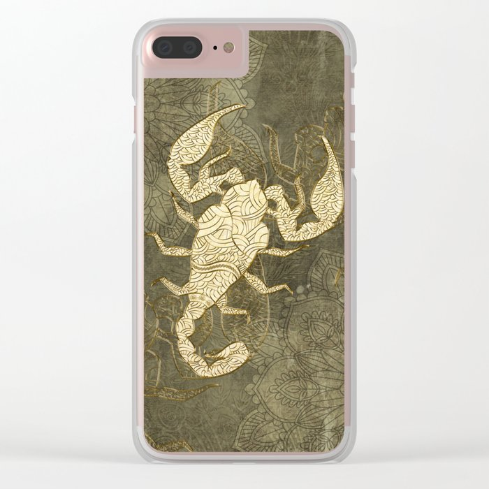 Beautiful scorpion mandala Clear iPhone Case