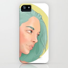 Green Haired Lady iPhone Case