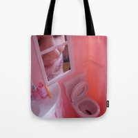 barbie Tote Bags featuring Barbie Poops by Charley Pallos