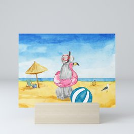 READY FOR A SWIM Mini Art Print