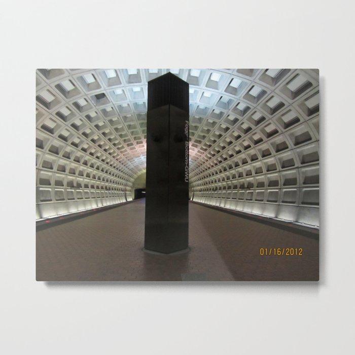 Foggy Bottom Metro Metal Print