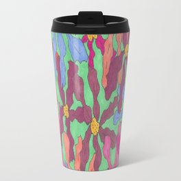 Colorful Retro Floral Print Travel Mug