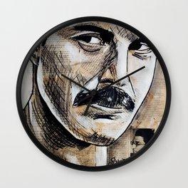 Freddie Mercur Queen Portrait Painting Wall Clock