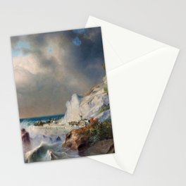 View between Genoa and Nice ocean landscape nautical painting by Apollinary Goravsky Stationery Cards