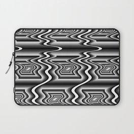 Grey Optical Pattern Laptop Sleeve