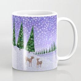 deer in the winter woods Coffee Mug