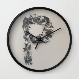 Letter P in Paint Wall Clock