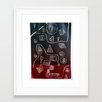 triforce Framed Art Prints featuring Triforce by Lewis Lawton