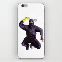 bathroom iPhone & iPod Skins featuring Bathroom Ninja by Del Gaizo