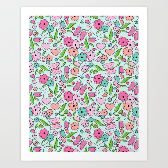 Sweetheart Aqua Art Print