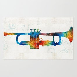 Colorful Trumpet Art Color Fusion By Sharon Cummings Rug