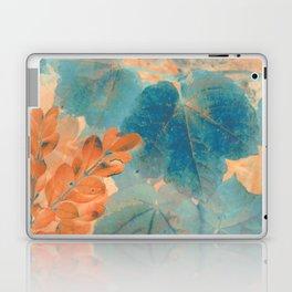 Blue and Orange Autumn Leaves Laptop & iPad Skin