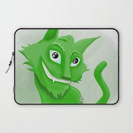 Kyrai - the green cat Laptop Sleeve