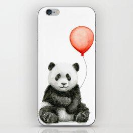 Baby Panda and Red Balloon iPhone Skin