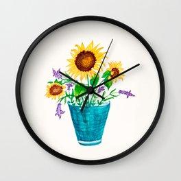 Sunflowers Summer Dream Wall Clock
