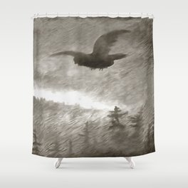 Stealth And Surprise Of The Night Owl Shower Curtain