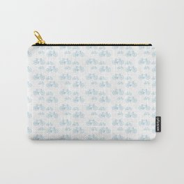 Blue Vintage Road Bike Pattern Carry-All Pouch