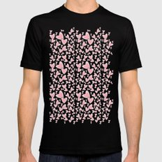Love Is In The Air MEDIUM Black Mens Fitted Tee