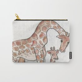 Giraffe and her Calf Carry-All Pouch