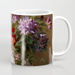 """George Jacobus Johannes van Os """"Still Life with Flowers in a Greek Vase Allegory of Spring"""" Coffee Mug"""