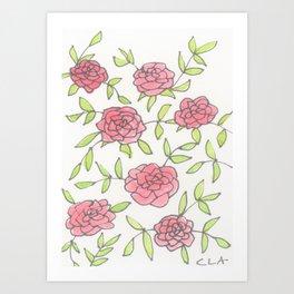 rose trellis Art Print