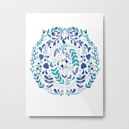 Cool Florals Metal Print