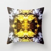 renaissance Throw Pillows featuring GOLD RENAISSANCE by Chrisb Marquez