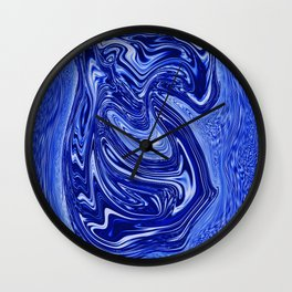 Experiment with blue surging fluid Wall Clock