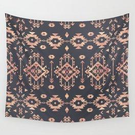 Trendy tribal geometric rose gold pattern Wall Tapestry