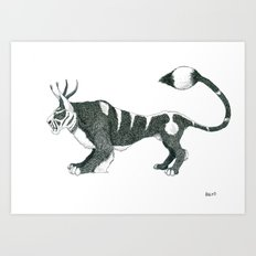 Tigre Cornu Art Print