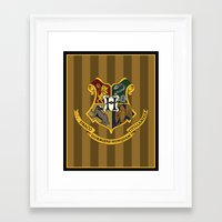 hogwarts Framed Art Prints featuring Hogwarts by Winter Graphics