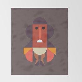 Zulu African Warrior Throw Blanket