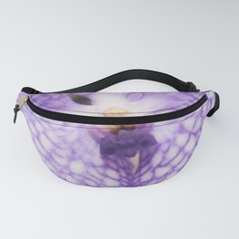 Purple Phalaenopsis Orchid Detail Fanny Pack